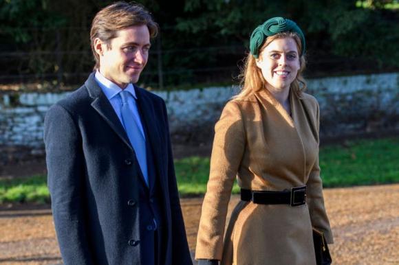 La princesa Beatriz junto a su pareja. Foto: La Nación / GDA.