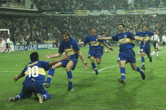 Martín Palermo y su gol contra River Plate en La Bombonera. Foto: La Nación.