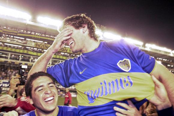 Martín Palermo y la emoción tras la victoria de Boca frente a River. Foto: La Nación.