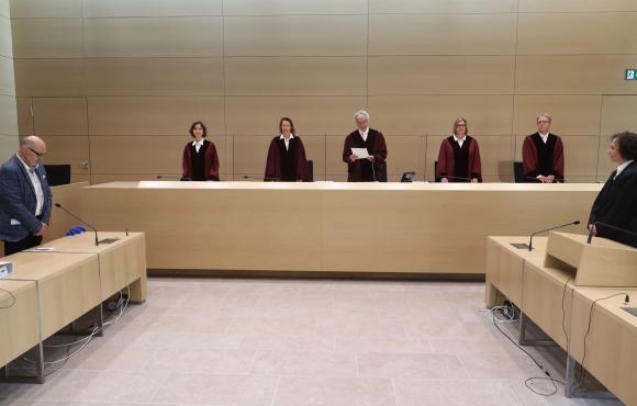 Lectura del veredicto en la Corte Federal de Justicia en Alemania. Foto: AFP.