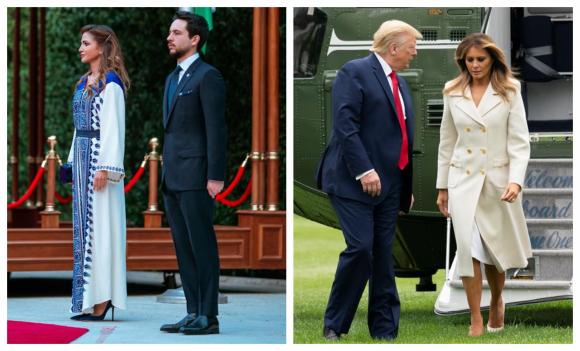 Rania de Jornania y Melania Trump. Foto: EFE