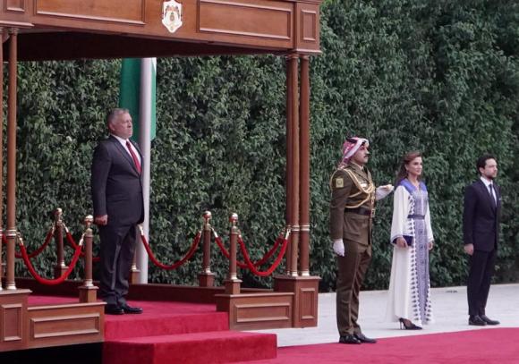 Rania de Jordania en los actos del 25 de mayo. Foto: EFE