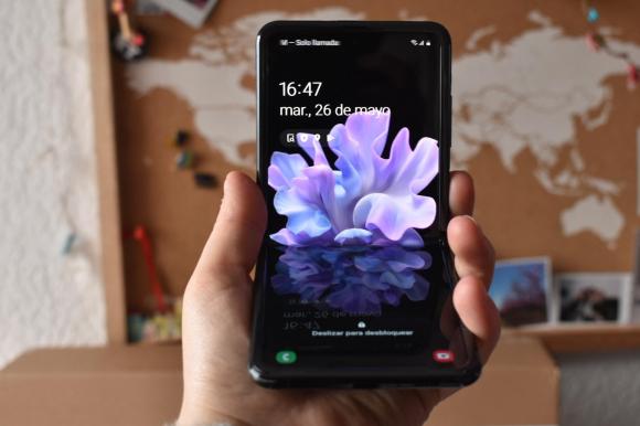 El nuevo Galaxy Z Flip. Foto: Mariana Malek