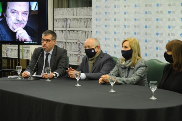 Valentín Trujillo, Pablo da Silveira, Beatriz Argimón y Ana Ribeiro. Foto: Presidencia