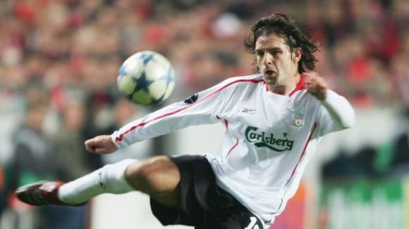 Fernando Morientes cuando jugó por el Liverpool