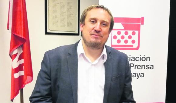 Fabián Cardozo es presidente de la Asociación de Prensa Uruguaya (APU).