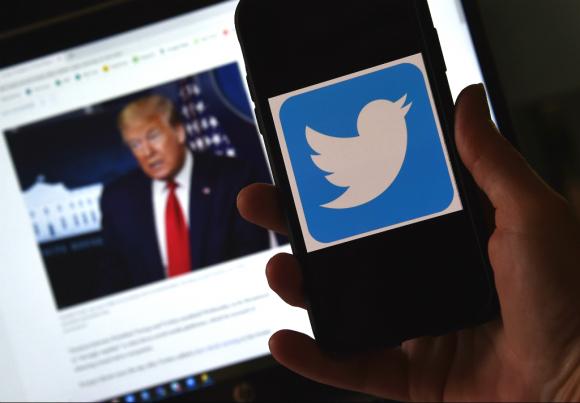 """Trump acusó a Twitter de censura y de tomar """"decisiones editoriales"""". Foto: AFP"""