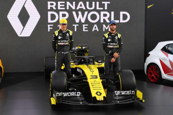 Dupla. El francés Esteban Ocon y el australiano Daniel Ricciardo son los pilotos de la escudería. (Foto: AFP)
