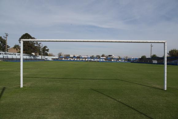 Así luce el Estadio Belvedere en pleno parate del fútbol. Foto: Leonardo Mainé.