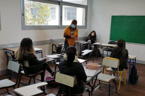 Vuelta a clases presenciales. Foto: Ricardo Figueredo.