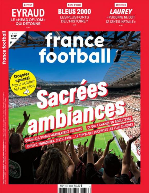 La tapa de la revista France Football con el informe de estadios sagrados. Foto: France Football.
