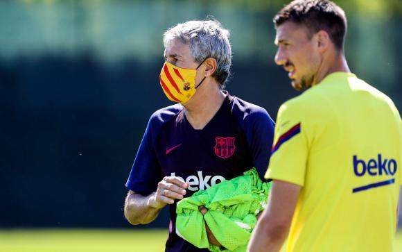 Quique Setién, entrenador de Barcelona. Foto: @FCBarcelona.