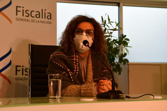 Fiscal Mirta Morales, este martes en conferencia de prensa en Fiscalía. Foto: Francisco Flores
