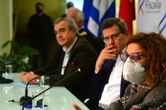 """""""En principio el móvil fue el hurto de las armas"""", dijo la fiscal Mirta Morales. Foto: Francisco Flores"""