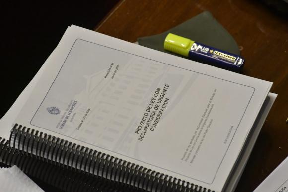 Proyecto de ley de urgente consideración. Foto: Leonardo Mainé.