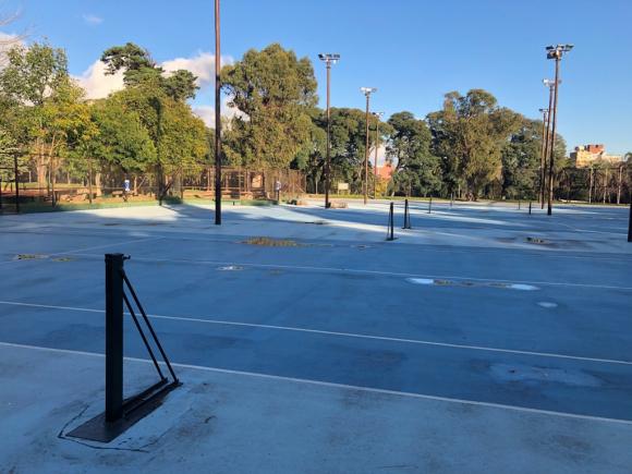 Las canchas del Centro de Desarrollo de Tenis. Foto: AUT.