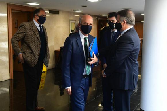Javier García este miércoles en el Parlamento. Foto: Francisco Flores