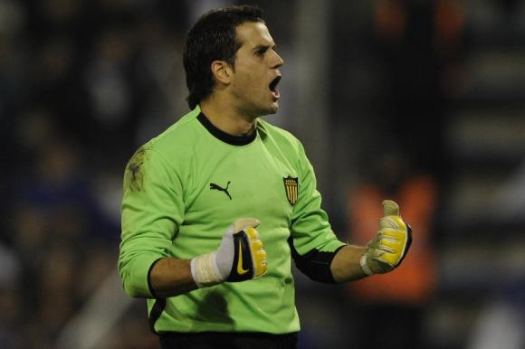 Sebastián Sosa durante su pasaje por Peñarol. Foto: AFP.