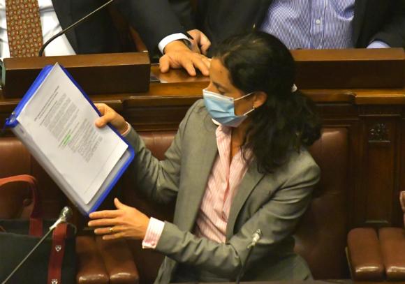 Arbeleche fue una de las ministras interpeladas por Cabildo Abierto. Foto: Leonardo Mainé