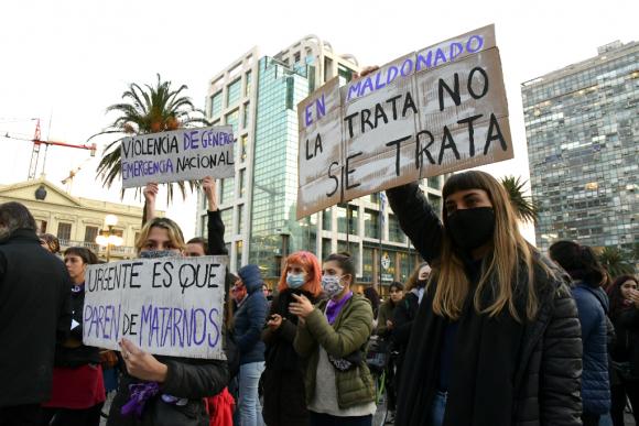 Movilización contra la explotación sexual y violencia de género. Foto: Gerardo Pérez