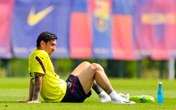Lionel Messi no entrenó con sus compañeros