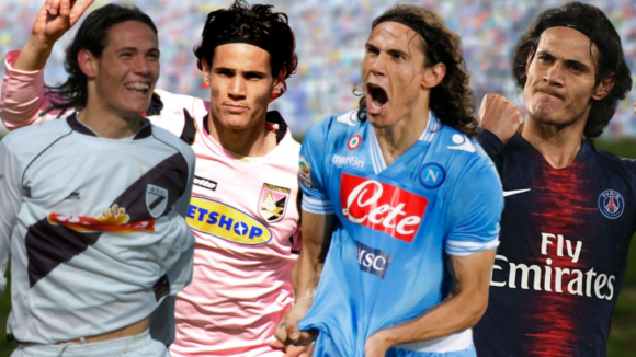 Edinson Cavani pasó por Danubio, Palermo, Napoli y Paris Saint Germain,