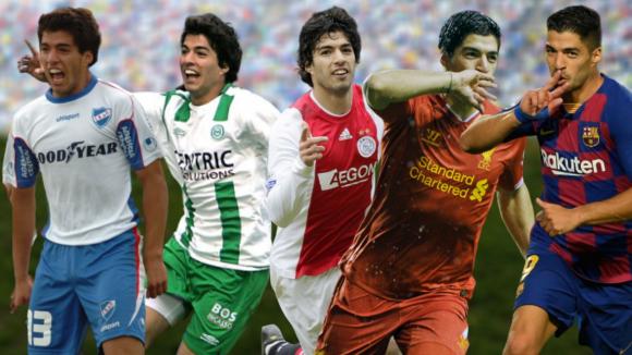 Luis Suárez pasó por Nacional, Groningen, Ajax, Liverpool y Barcelona.