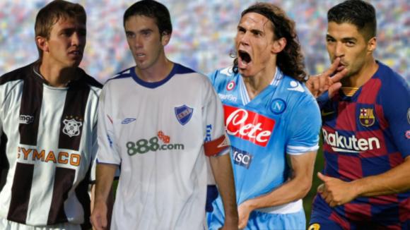 Muslera, Godín, Cavani y Suárez: cuatro cracks de la selección uruguaya.