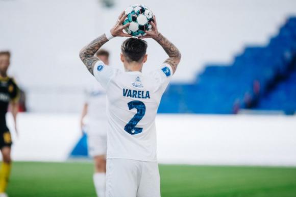 Guillermo Varela defendiendo al FC Copenhague