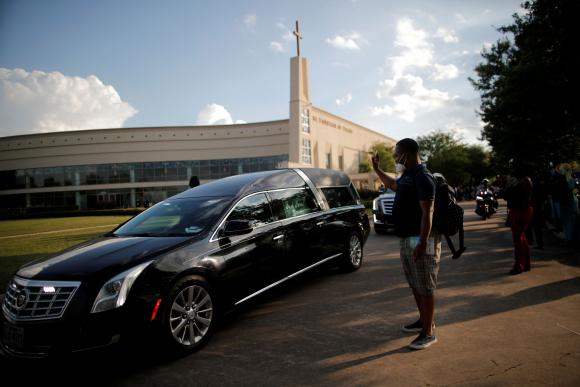 Despedida de George Floyd. Foto: Reuters