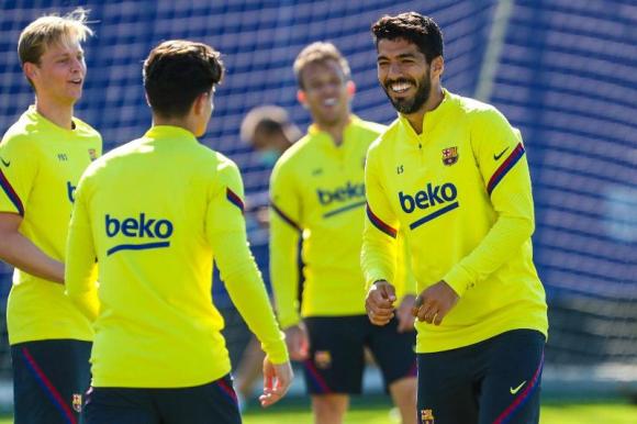 La felicidad de Luis Suárez por volver a la cancha