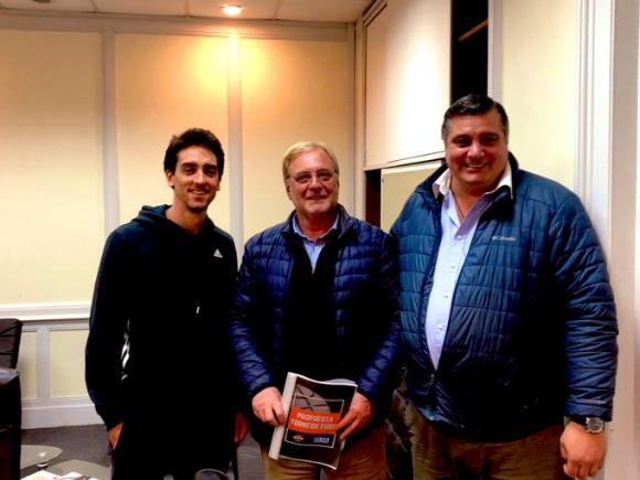 Leandro Taboada, Ricardo Vairo y Esteban Yaquinta. Foto: @BUAURU.