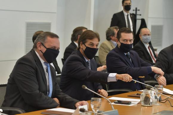 Lacalle Pou en Consejo de Ministros en Torre Ejecutiva. Foto: Leonardo Mainé