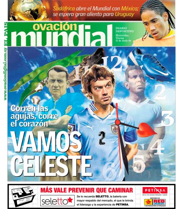 Portada de Ovación del 11 de junio de 2010. Foto: El País.