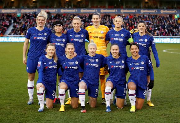 El equipo femenino de Chelsea. Foto: AFP