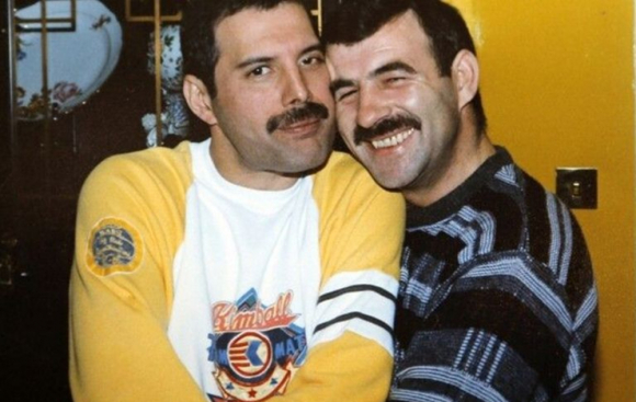 Freddie Mercury y Jim Hutton
