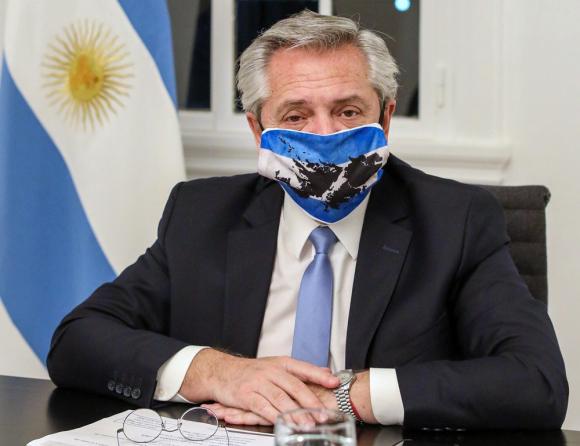Alberto Fernández, este miércoles en la residencia presidencial argentina en Olivos. Foto: AFP