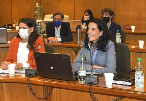La ministra Arbeleche defendió la LUC en Diputados. Foto: Leonardo Mainé