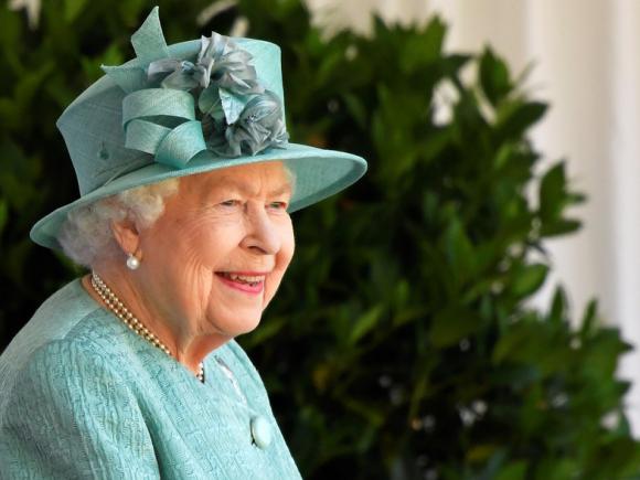 Isabel II durante la celebración de su cumpleaños