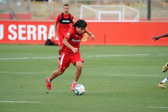Así juega Luka Romero: a los 15 lo comparan con Messi y puede romper récord en LaLiga. Foto: @lukaromero_