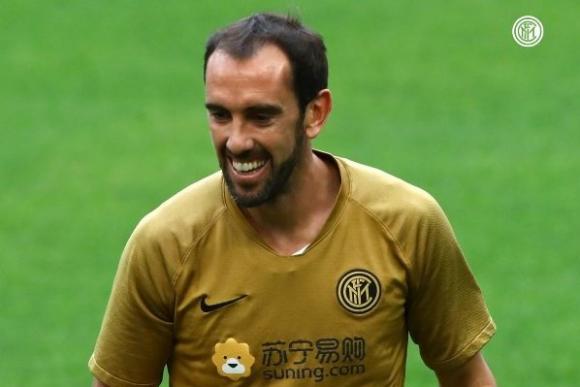 Diego Godín aseguró que está feliz en el Inter