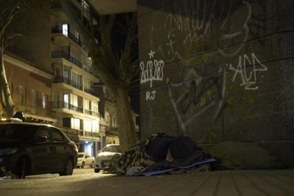Situación de calle. Foto: Gerardo Pérez