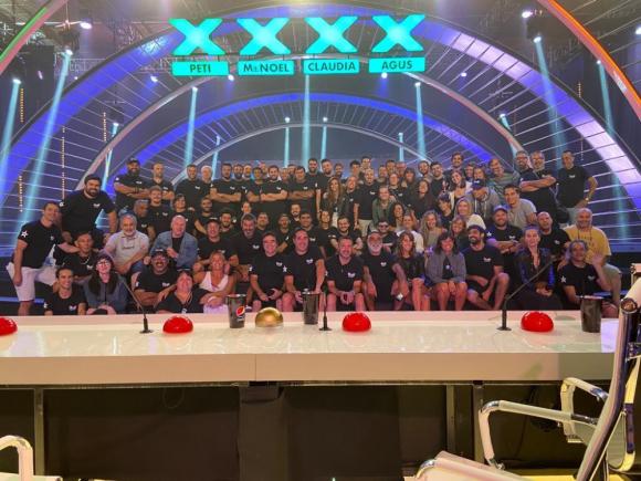 "Equipo técnico de ""Got Talent Uruguay"". Foto: Gentileza Ignacio Varela"