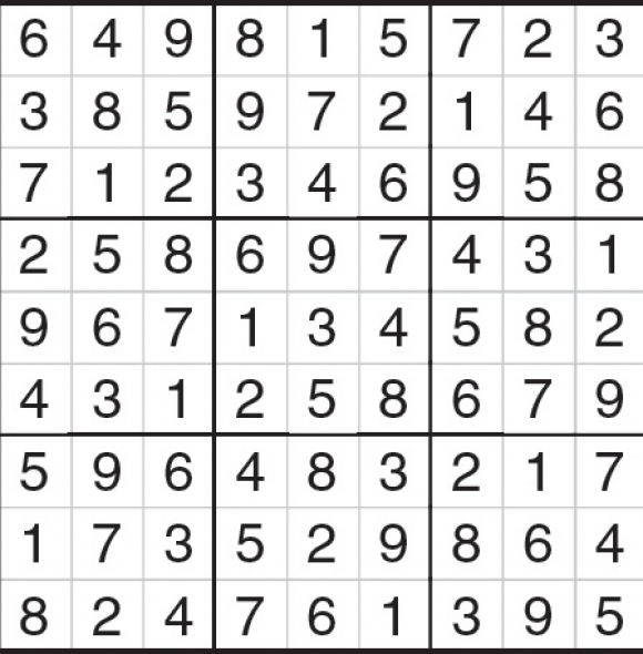 solucion sudoku