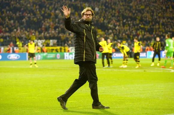 Jürgen Klopp durante su paso por el Borussia Dortmund. Foto: AFP.