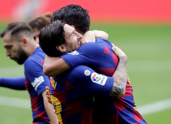 Festejo de gol Luis Suarez. Foto: Reuters