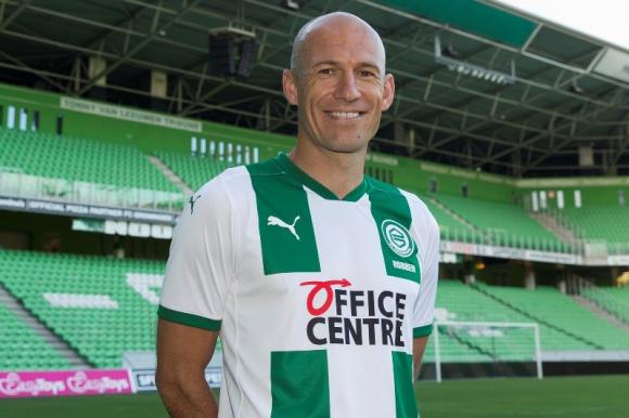 Arjen Robben con la camiseta del Groningen. Foto: @ArjenRobben.