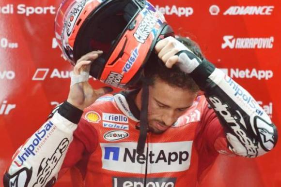 Andrea Dovizioso se accidentó en una carrera de motocross