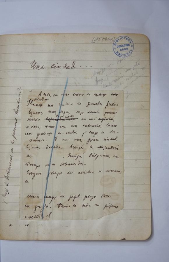 Transcribieron y digitalizaron documentos manuscritos de José Enrique Rodó. Foto: Biblioteca Nacional