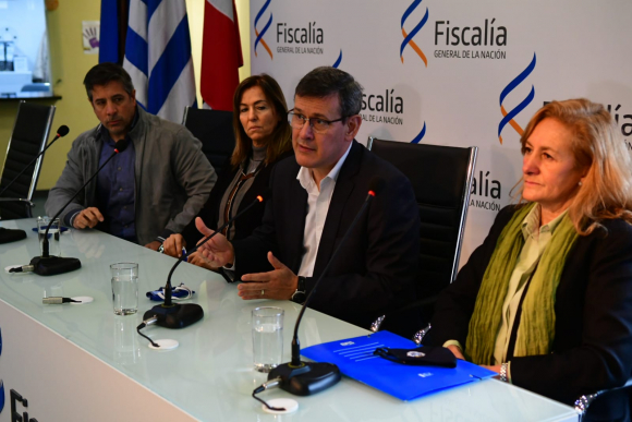 Jorge Díaz brindó una conferencia de prensa advirtiendo sobre nuevas modalidades de estafa. Foto: Francisco Flores